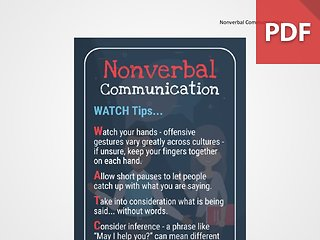 Discussion Card: Nonverbal Communication