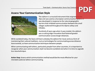 Team Spark: Assess Your Communication Style