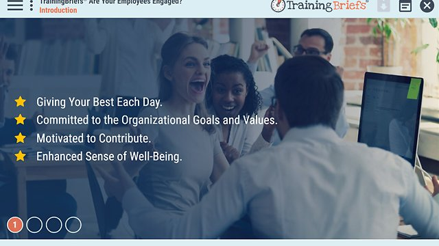 TrainingBriefs™ Are Your Employees Engaged?