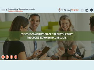 TrainingBriefs™ Combine Your Strengths