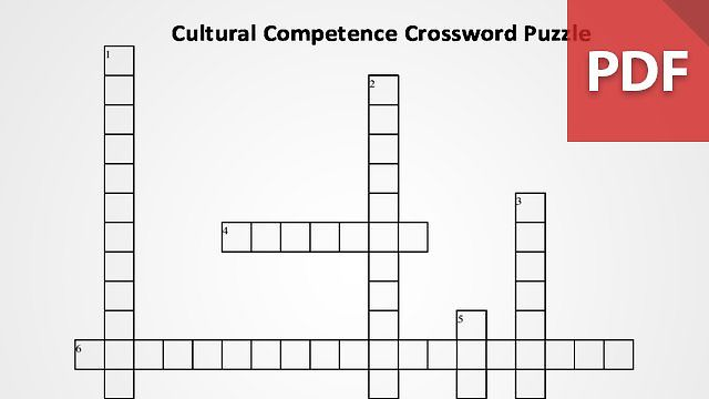 Cultural Competence Crossword Puzzle