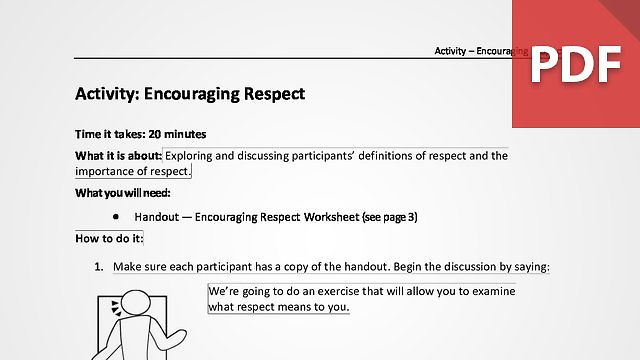 Encouraging Respect
