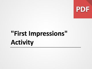 First Impressions Activity