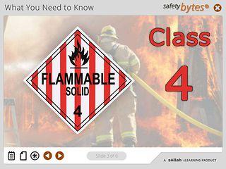 SafetyBytes® - Hazard Class 4 - Flammable Solids