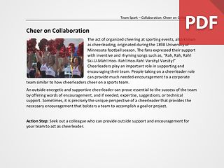 Team Spark: Cheer on Collaboration