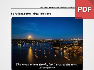 Team Spark: Proverb - Be Patient