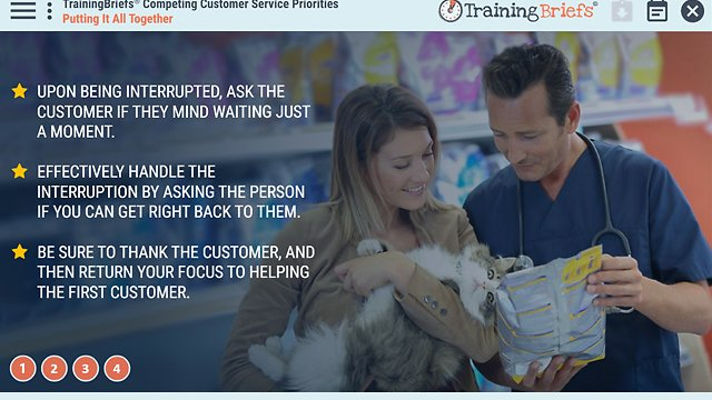 TrainingBriefs™ Competing Customer Service Priorities