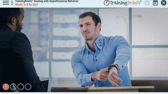 TrainingBriefs™ Dealing with Unprofessional Behavior