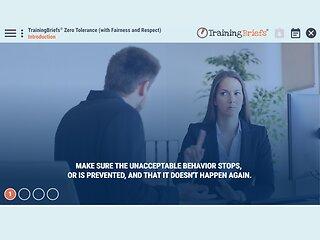 TrainingBriefs™ Zero Tolerance (with Fairness and Respect)